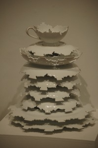 """Heirloom"", deconstructed/cut china - Elizabeth Alexander, artist"