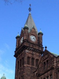 Clock Tower, Mary Lyon Hall Mount Holyoke College, South Hadley, MA